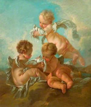 Air: Three Putti with Birds