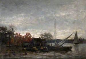 A Swedish Lake Scene