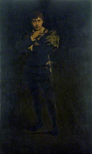 Edward Compton (1854–1918), as Hamlet in 'Hamlet' by William Shakespeare