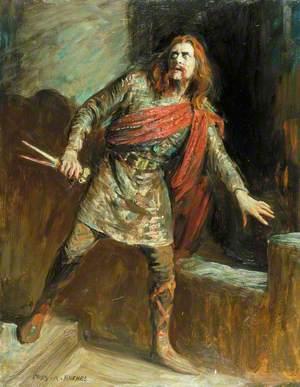 Herbert Beerbohm Tree (1852–1917), as Macbeth in 'Macbeth' by William Shakespeare