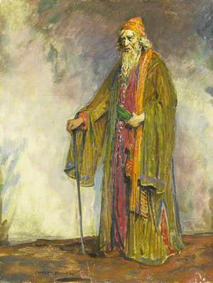 Herbert Beerbohm Tree (1852–1917), as Shylock in 'The Merchant of Venice' by William Shakespeare