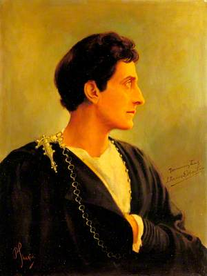 Sir Johnston Forbes-Robertson (1853–1937), as Hamlet in 'Hamlet' by William Shakespeare