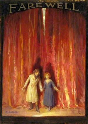 Sir John Martin-Harvey (1863–1944), as Sidney Carton, and Nina de Silva (1869–1949), as Mimi, in 'The Only Way' by Freeman Wills and Frederick Langbridge