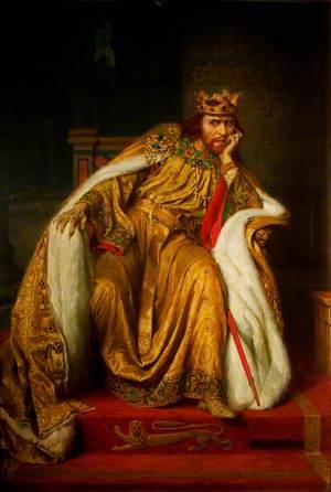 Herbert Beerbohm Tree (1852–1917), as King John in 'King John' by William Shakespeare
