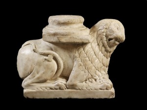 Column Base: Couchant Lion