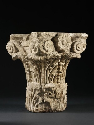 Capital with Rosettes and Acanthus Leaves