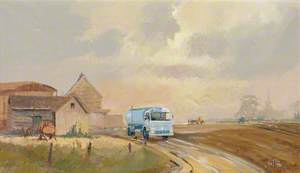 Leyland Milk Tanker on a Farm