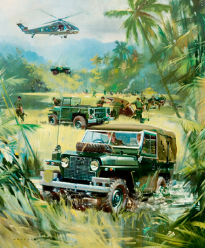 Land Rover in Jungle Action