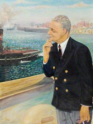 Lord Nuffield (1877–1963), Embarking on a Sea Voyage, Liverpool Docks