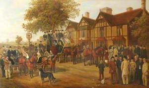 Stagecoach Outside 'The George in the Tree', Kenilworth Road, Berkswell, West Midlands