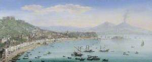 The Bay of Naples seen from Posillipo, Italy
