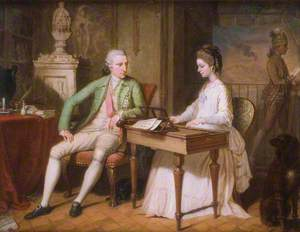 Sir William Hamilton (1730–1803), and the First Lady Hamilton (1765–1815), in Their Apartment in Naples