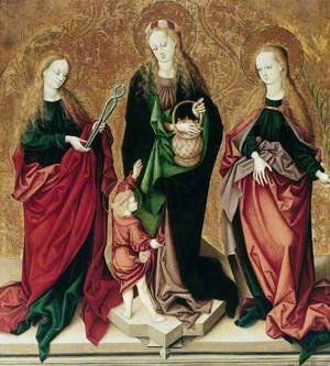 Saint Apollonia, Saint Dorothy of Cappadocia and an Unidentified Female Saint