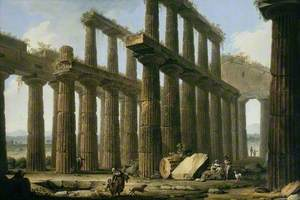 The Temple of Hera at Paestum, Italy