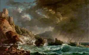 Storm off a Rocky Coast