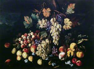Still Life with Fruit and Mushrooms
