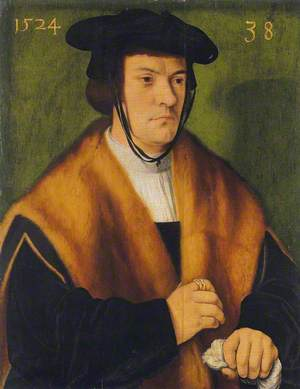 Gerhard von Westerburg (1486–after 1539), Half-Length, in a Fur-Trimmed Mantle and Black Hat