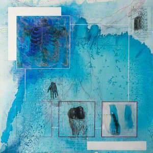 Blue Bones Abstract (Vertebrae)