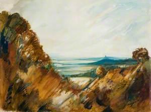 Distant View of Glastonbury, Somerset