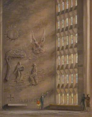Sketch for Coventry Cathedral Wall Panel