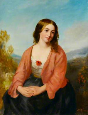Young Woman in a Pink Dress