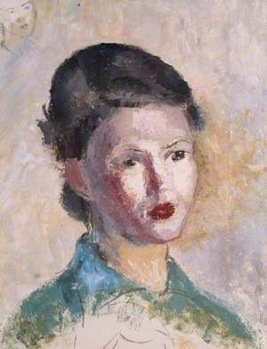 Portrait of an Unknown Woman in Green