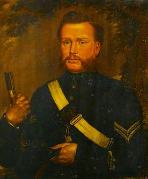 David Gee (1839–1911), as a Rifle Volunteer