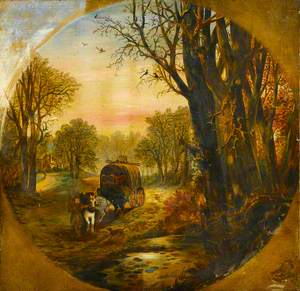 Wooded Landscape with a Waggon