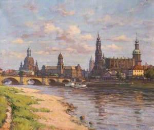 Blick auf Stadt ... zu Dresden