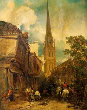 Bayley Lane, with Drapers Hall and St Michael's Church, Coventry