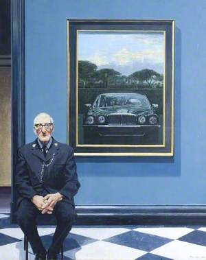 Daimler and Gallery Attendant