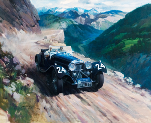 Alpine Rally 1936, SS100 BWK77