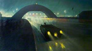 C-Type No. 20, Night-Time at Le Mans, France