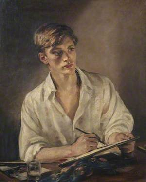 Young Man Sketching