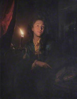 Self Portrait by Candlelight