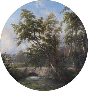 Landscape with a Stream and a Bridge