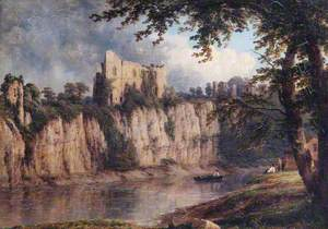 Chepstow Castle from the Gloucester Side of the Ruin