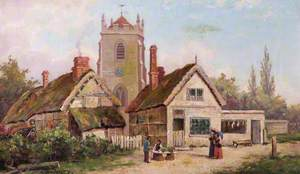 Original Parish Church and Cottages, Leamington