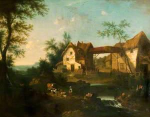 Farmhouse in a Classical Landscape