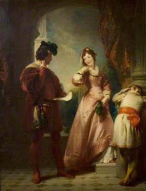 'The Two Gentlemen of Verona', Act II, Scene 1, Milan, The Duke's Palace: Valentine, Speed and Silvia