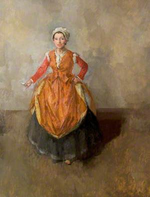 Angela Baddeley (1904–1976), as Mrs Page, Stratford, 1955