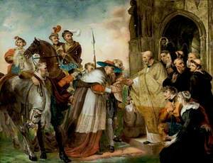 'Henry VIII', Act IV, Scene 2, Cardinal Wolsey Entering the Abbey of Leicester