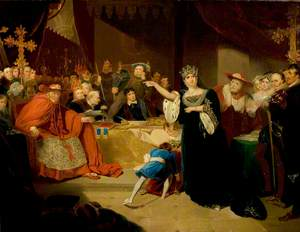 'Henry VIII', Act II, Scene 5, the Trial of Queen Katherine (The Kemble Family)