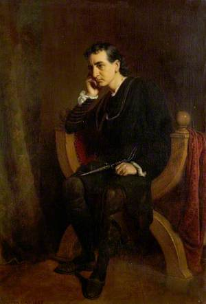Edwin Booth (1833–1893), as Hamlet