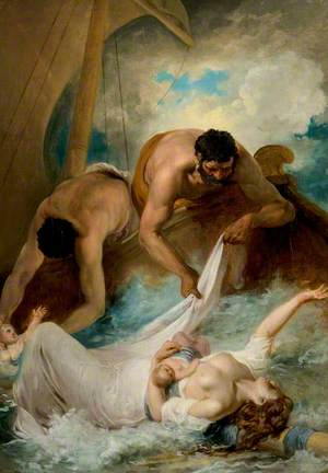 'The Comedy of Errors', Act I, Scene 1, the Rescue of Aemilia from the Shipwreck