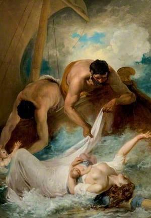 'The Comedy of Errors', Act I, Scene 1, the Rescue of Aemilia from the Shipwreck
