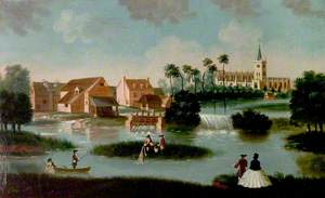 View of Stratford-upon-Avon, Warwickshire