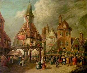 Scene at the High Cross, Garrick Jubilee, Stratford-upon-Avon, Warwickshire