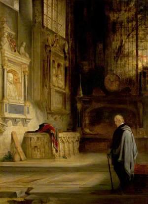 Sir Walter Scott at Shakespeare's Tomb