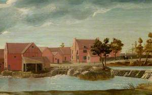 Wier and Water Mill on the River Avon, Stratford-upon-Avon, Warwickshire